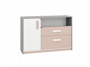 Iq 09 (Comoda) Grey Platinum/White/Bright Pink