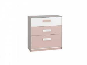 Iq 10 (Comoda) Grey Platinum/White/Bright Pink