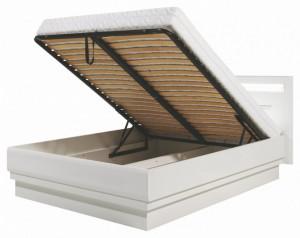 Irma im-16/160 white/white,d.magia rama de pat z storage box