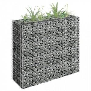 Jardinieră gabion, 90 x 30 x 90 cm, oțel galvanizat