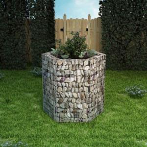 Jardinieră gabion hexagonală, 100 x 90 x 100 cm