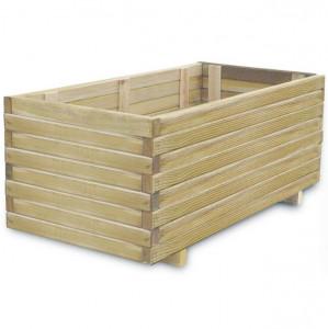 Ladă dreptunghiulară din lemn pentru răsaduri 100 x 50 x 40 cm