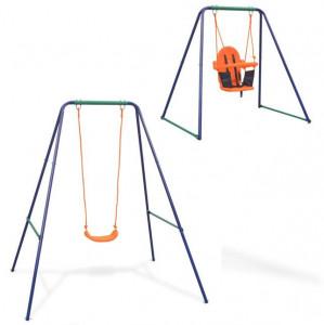 Leagăn individual și leagăn de copii mici, 2 în 1, portocaliu