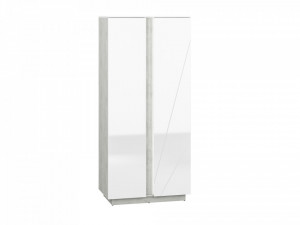 Lumens 01 dulap beton/white high gloss