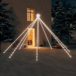 Lumini pentru bradul de Crăciun, 576 LED-uri, alb rece, 3,6 m