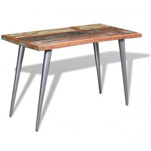 Masă de bucătărie din lemn masiv reciclat, 120 x 60 x 76 cm