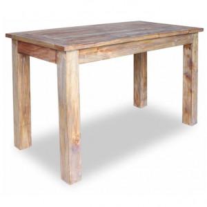 Masă de bucătărie din lemn masiv reciclat, 120 x 60 x 77 cm
