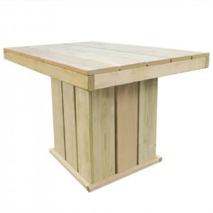 Masă de exterior, 110x75x74 cm, lemn de pin tratat, FSC