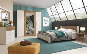 Mobila Dormitor Markos Pine Anderson/Oak