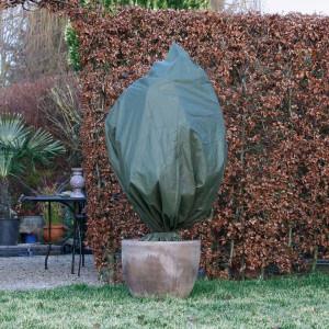 Nature Husă de iarnă din fleece, verde, 2,5 x 3 m, 70 g/m²