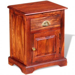 Noptieră 40 x 30 x 50 cm, lemn masiv de sheesham