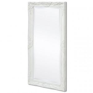 Oglindă verticală în stil baroc, 100 x 50 cm, alb