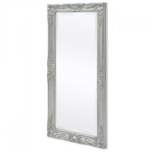 Oglindă verticală în stil baroc, 100 x 50 cm, argintiu