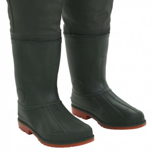 Pantaloni de vânătoare cu cizme, verde, mărime 45