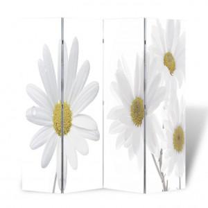 Paravan de cameră pliabil, 160 x 180 cm, flori