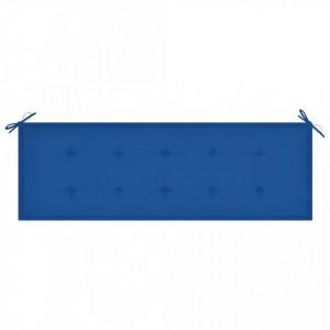 Pernă pentru bancă grădină, albastru regal, 150x50x4 cm, textil