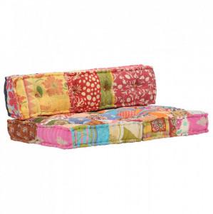 Pernă pentru canapea din paleți, multicolor, textil, petice