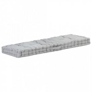 Pernă podea canapea din paleți, gri, 120 x 40 x 7 cm, bumbac