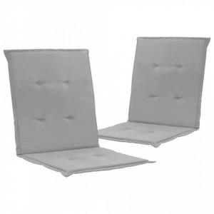 Perne scaun de grădină, 2 buc., gri, 100 x 50 x 3 cm