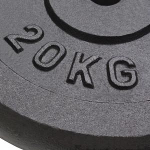 Plăci de greutate, 2 buc., 2x20 kg, fontă