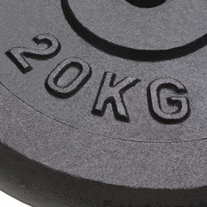 Plăci de greutate, 2 buc, 40 kg fontă