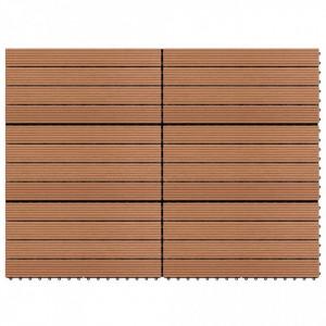 Plăci de pardoseală, 6 buc., maro, 60 x 30 cm, WPC, 1 m²