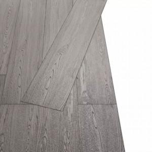 Plăci de pardoseală autoadezive, gri închis, 5,02 m², 2 mm, PVC