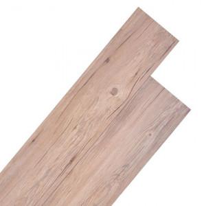 Plăci de pardoseală, stejar maro, 5,26 m², 2 mm, PVC