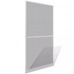 Plasă albă cu balamale pentru uși împotriva insectelor 100 x 215 cm