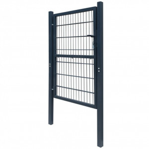 Poartă 2D pentru gard (simplă) 106 x 170 cm, gri antracit