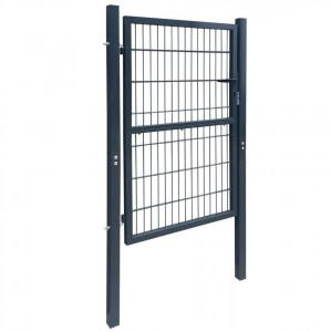 Poartă 2D pentru gard (simplă) 106 x 190 cm, gri antracit