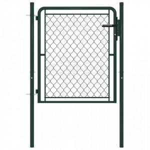 Poartă de grădină, verde, 100 x 75 cm, oțel