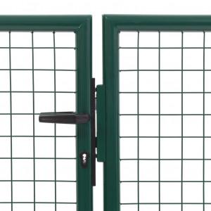 Poartă de grădină, verde, 350 x 75 cm, oțel