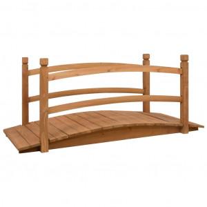 Podeț de grădină, 140 x 60 x 60 cm, lemn masiv de brad
