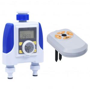 Programator electronic irigații, racord dublu, senzor umiditate