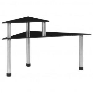 Raft de bucătărie negru, 49,5x35x26 cm, sticlă securizată