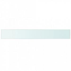 Rafturi, 2 buc., 110 x 15 cm, panouri sticlă transparentă