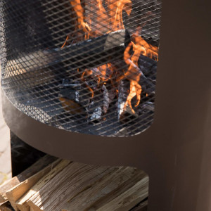 RedFire Vatră de foc Buffalo, negru mat, 44 x 90 cm, oțel
