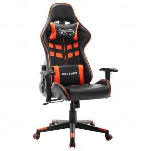 Scaun de jocuri, negru și portocaliu, piele artificială