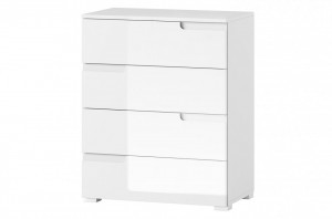 Selene 4 comoda white high gloss/white
