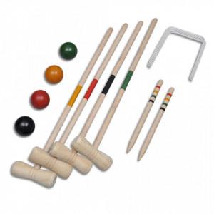 Set de crochet din lemn pentru 4 jucători