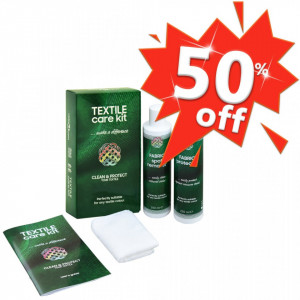 Set pentru îngrijire materiale textile, verde și alb, 2 x 250 ml