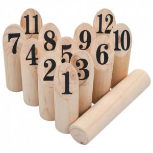 Set pentru joc Kubb cu numere, lemn