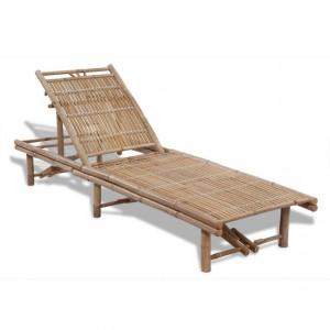Șezlong de plajă, bambus