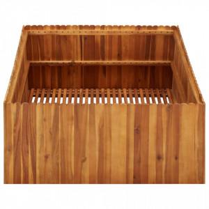 Strat înălțat de grădină, 100x100x50 cm, lemn masiv de acacia