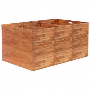 Strat înălțat de grădină, 150 x 100 x 100 cm, lemn de acacia