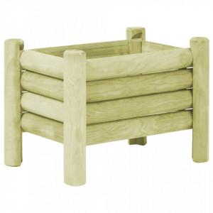 Strat înălțat de grădină, 60 x 40 x 42 cm, lemn de pin tratat