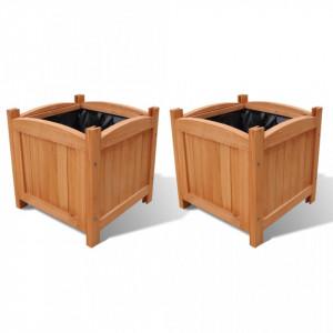 Strat înălțat din lemn, set de 2, 30 x 30 x 30 cm