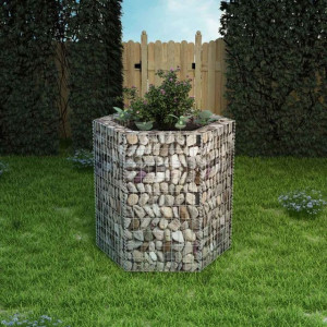 Strat înălțat gabion hexagonal, 100 x 90 x 100 cm