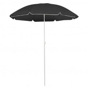 Umbrelă de soare pentru exterior, stâlp din oțel, antracit, 180 cm